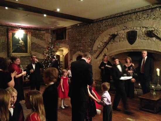 Thornbury Castle and Tudor Gardens: Christmas Eve champagne reception in the Tudor Hall
