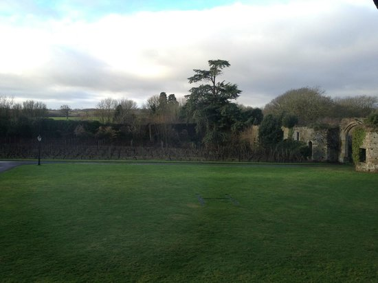 Thornbury Castle and Tudor Gardens: View from The Howard suite (Thornbury vineyard)