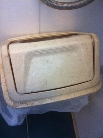 Town & Country Motel: Most dirty Bin I have ever seen it Stank!!! also never been changed!!