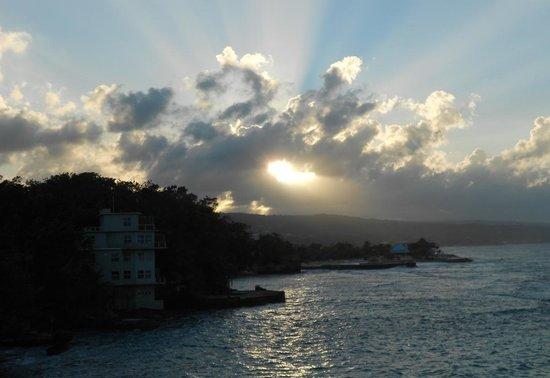 Golden Clouds Villa Estate: A view of Golden Eye at sunset