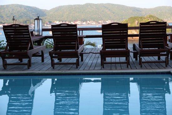 Vila d'este: Vista da piscina superior