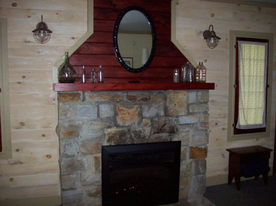 The Orendaga on Northville Lake: The fireplace