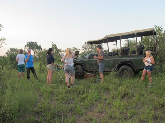 Honeyguide Khoka Moya & Mantobeni Camps: drink break during the afternoon safari