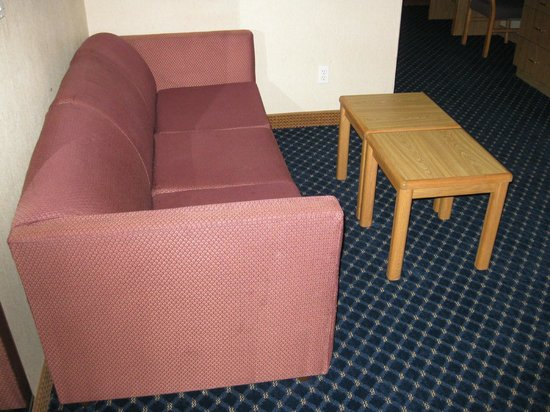 Howard Johnson Inn and Suites Vancouver by Vancouver Mall : Lounge sofa