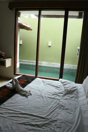 Jas Boutique Villas: second bedroom with pool view