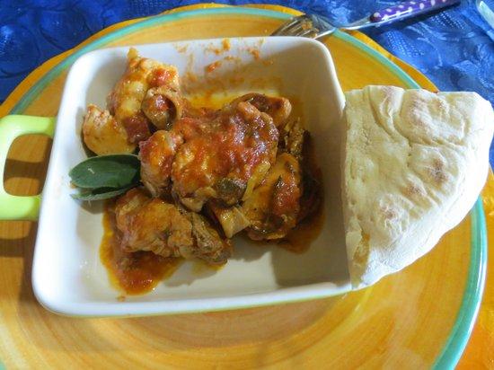 Let's cook in Umbria: Chicken arrabiata