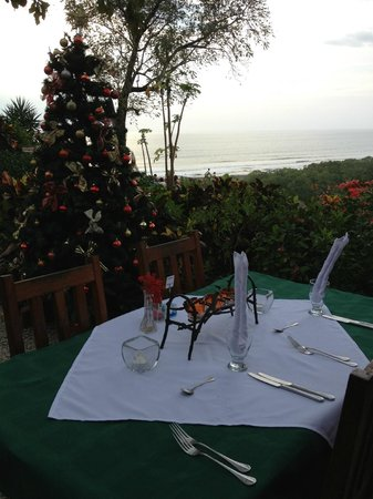 Hotel Lagarta Lodge: Our dining table - check out the view