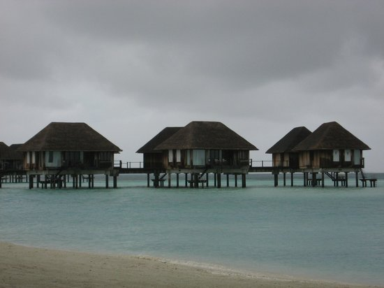 Club Med Kani: Mine's the end of the jetty. Others are in clear view from the beach.