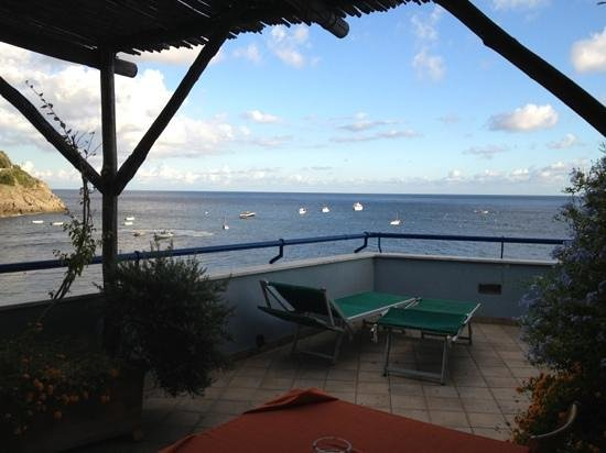 Lo Scoglio da Tommaso: View from balcony