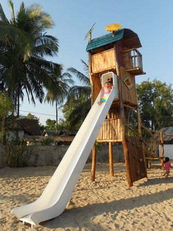 The Playground: The super slide tower.