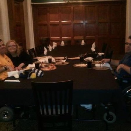 Rockwell's: Us at OUR Christmas Party that was DOWNSTAIRS !!!! no wheelchair access !! : ((((