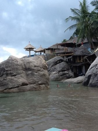 Koh Tao Bamboo Huts: jansom bay swimming