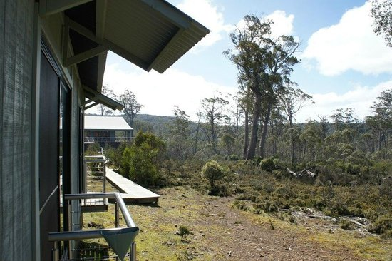 Cradle Mountain Hotel: The view from our balcony.