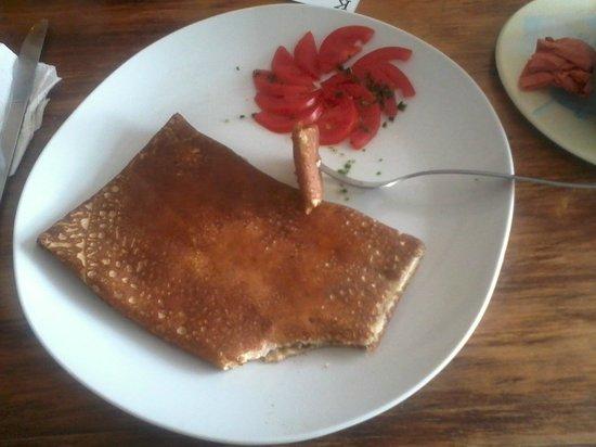 Cafe Hidalgo: ham and cheese crepe