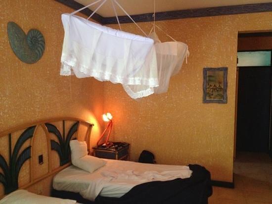 Beachcomber Hotel and Resort: Funktionellt rum med ac.
