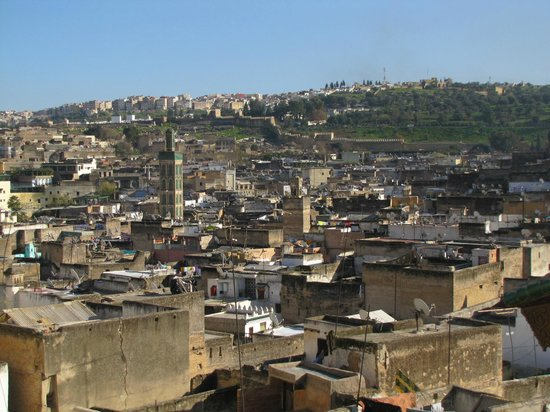 Riad Rcif : vue de la terrasse