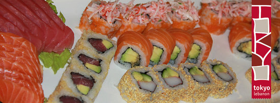 Tokyo Middle East: Our Chef's choice of Maki set - Tokyo Lebanon