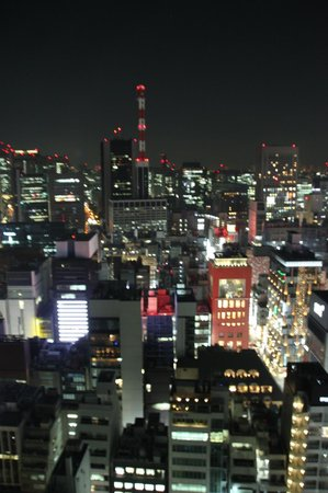 Mitsui Garden Hotel Ginza Premier: Mesmerising night view from our room