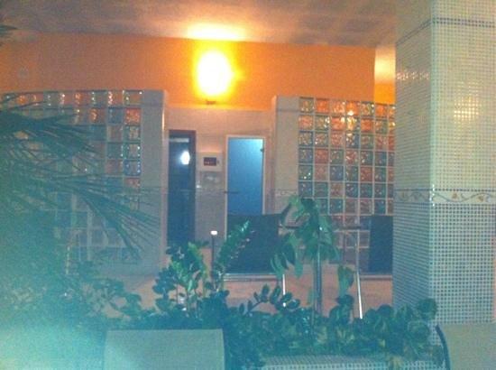 Hotel La Fuente del Sol: el baño turco y la sauna