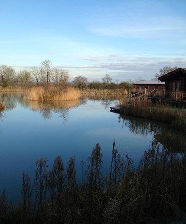 Weybread Lakes Log Cabin Holidays: View of lake