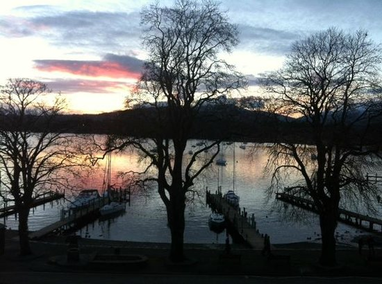 Waterhead Hotel: Sunset View from Room 19