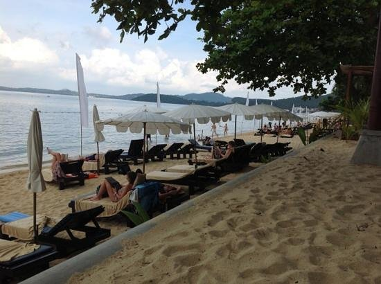 beach at Peace Resort which can be quite crowded