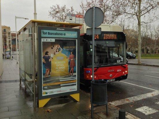 Hotel 4 Barcelona: Bus no. 14 bus stop