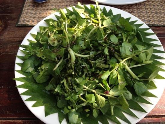 Tum Tum Cheng: water cress salad, 19k overpriced!