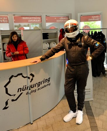 Nurburgring Aston Martin Co Pilot Ride: The suit is not very 'slimming'