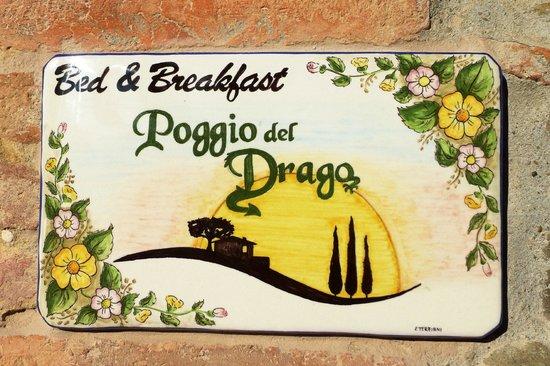 B&B Poggio del Drago: Poggio Signage
