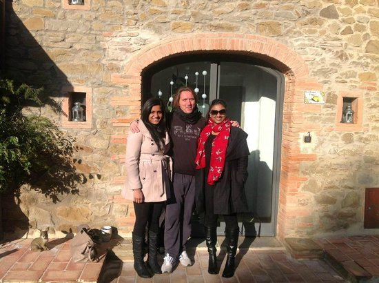 B&B Poggio del Drago: With Emanuele our great host