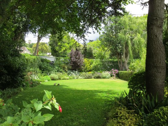 Chambery: View of the garden from the Studio Cottage
