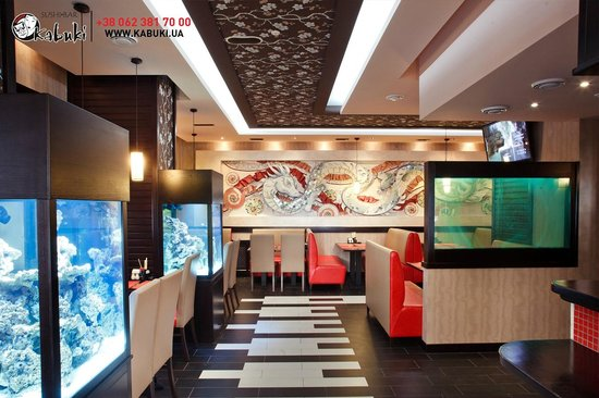 Sushi Bar Design Исключительный интерьер / exceptional interior design - picture of