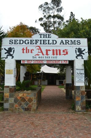 Sedgefield Arms: Entrance to the Arms