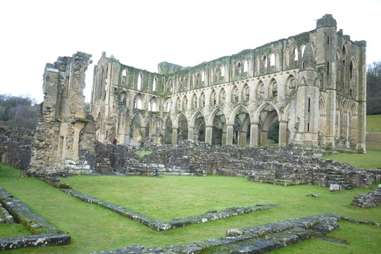 Rievaulx Abbey: ancient ruins