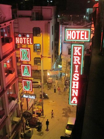 Hotel Krishna: vue de la terrasse