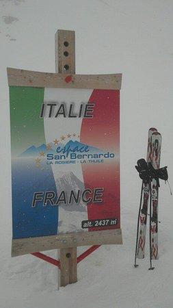 La Thuile: confine fra Italia e Francia