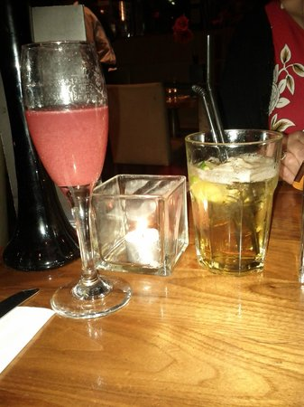 Tiger Tiger : Our Drinks - 'Pink Blossom' £3.90 & 'Jack your body' Jack Daniels with Disaronno £3.85