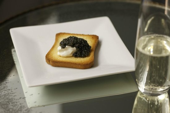 The Surrey: Caviar and Creme Fraiche Botanical Tasting