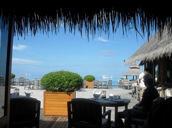 Baros Maldives: view from breakface terrace