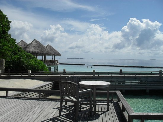 Baros Maldives: view from breakfast terrace