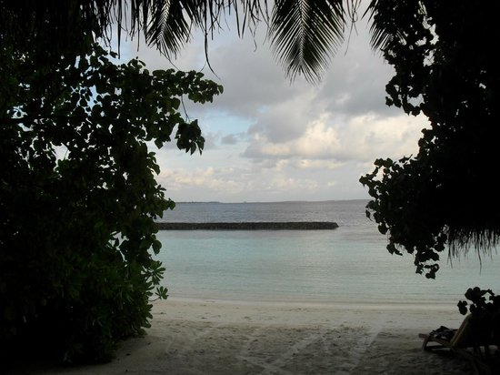 Baros Maldives: view from our villa, directly out our door Unit 105