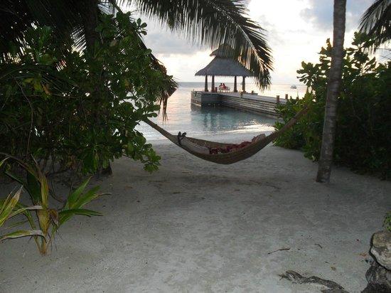 Baros Maldives: realxing in a hammock