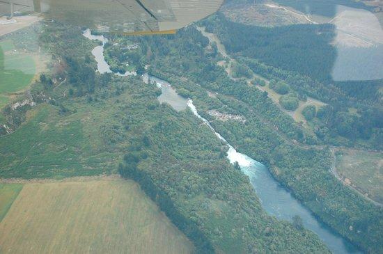 Taupo's Floatplane: Huka Falls from the Air