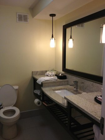 Holiday Inn Express & Suites: Room for your toiletries in the bathroom