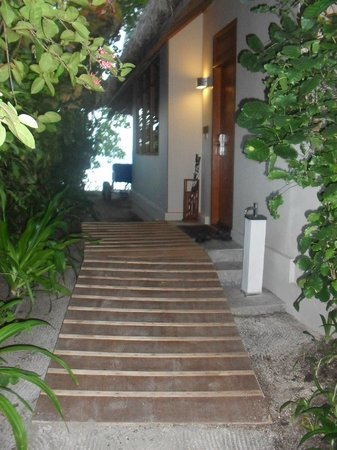 Baros Maldives: ramp to our front door
