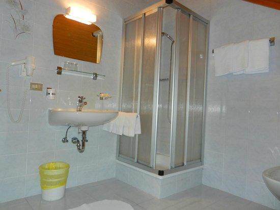 Albergo Gader: Bagno con doccia