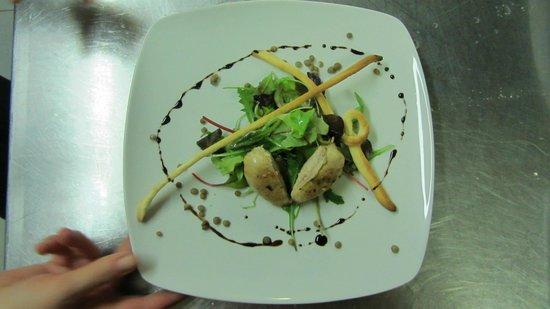 Albergo Gader: Petto di quaglia su letto di insalatina