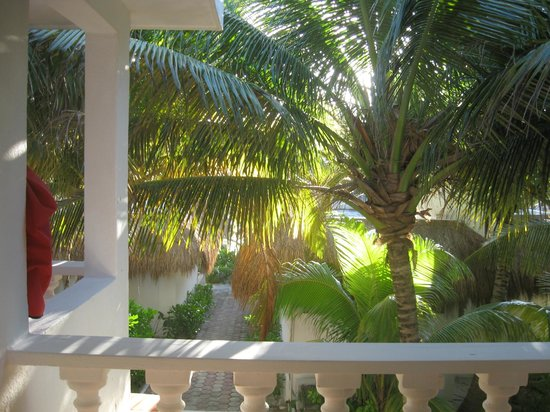 Cabanas Tulum: view from 2d floor, partial view room terrace