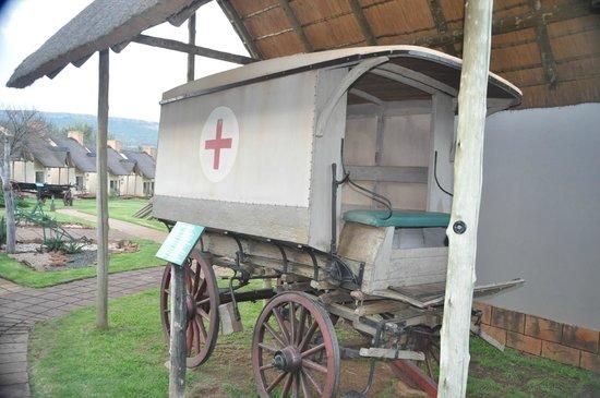 Askari Game Lodge & Spa: Old Ambulance Wagon On Grounds